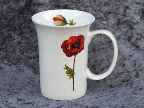 548 Mohn / Bone China Becher 0,3L