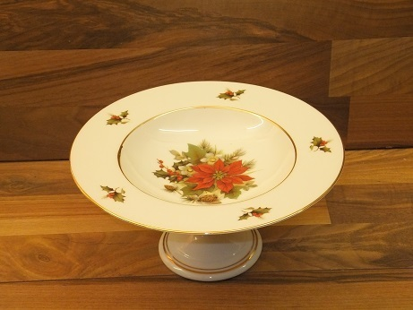 Weihnachtstern Goldrand / Teller auf Fuß / 23,5 cm Durchmesser ...